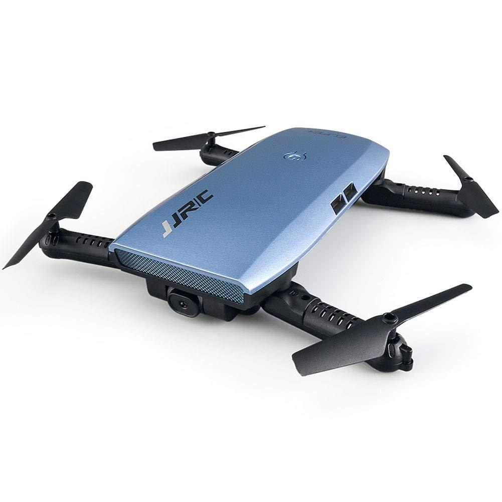WQGNMJZ Drone, Drone Remoto, Quadcopter, avión de Control Remoto con un Solo botón Plegable avión de Cuatro Ejes avión Drone Gravedad Control Remoto Juguete de la Mosca,Blue