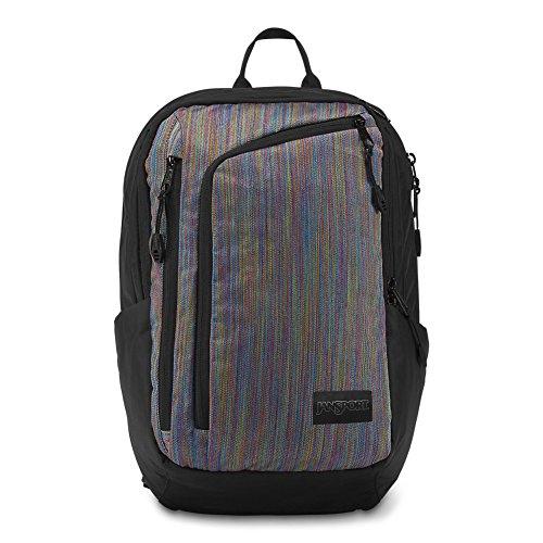 Multi Pocket Deluxe Organizer - JanSport Platform Laptop Backpack - Multicolor Woven Stripe