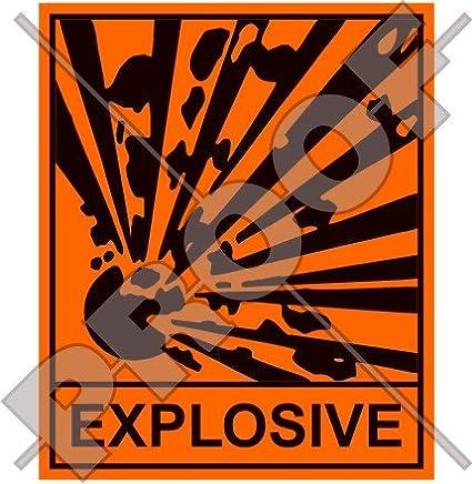 Explosive Sicherheit Warnung Zeichen Explosion Gefahr 10 2 Cm 100 Mm Vinyl Aufkleber Aufkleber Garten