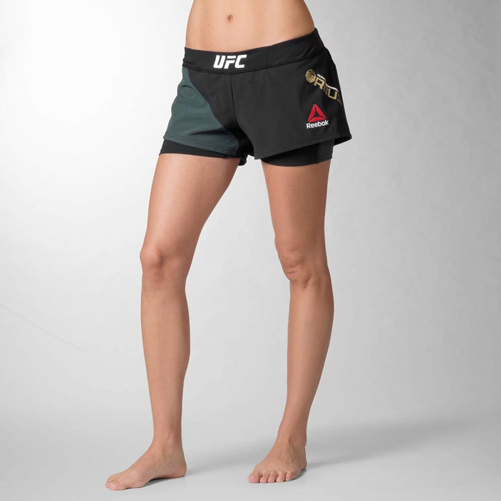 Reebok UFC FK Octagon Short Blan Pantalón Corto, Mujer BVO97