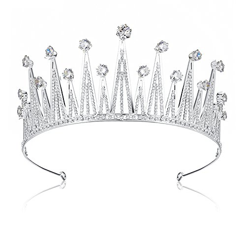 Oubetty Rhinestones Tiaras Crown Bridal Princess Crown With Gift Box Headpieces Hair Jewelry Accessories For Women Wedding Pageant(Crown-4)]()