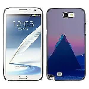 EJOY---Cubierta de la caja de protección la piel dura para el / Samsung Note 2 N7100 / --Patrón Geometría Triángulo