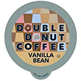 Double Donut Vanilla Bean Flavored Coffee, in Recyclable Single Serve Cups for Keurig K-Cup Brewers, 96 Count