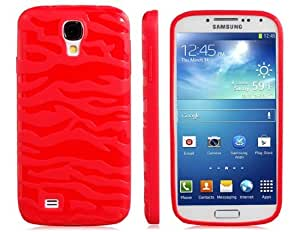 TPU Zebra Protective Case for Samsung Galaxy S4/i9500 (Red)