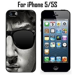 David With Sunglasses Custom Case/ Cover/Skin *NEW* Case for Apple iPhone 5/5S - Black - Rubber Case (Ships from CA) Custom Protective Case , Design Case-ATT Verizon T-mobile Sprint ,Friendly Packaging - Slim Case