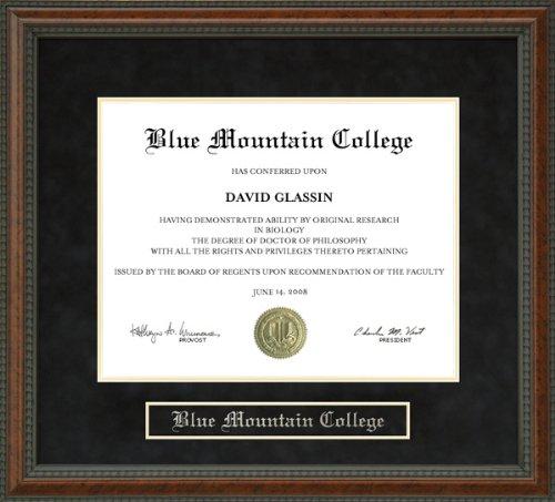 Blue Mountain College (BMC) Diploma Frame -