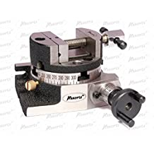 """Rotary Table 3"""" (75mm) with Suitable Round Vice + T nuts for Milling Machine"""