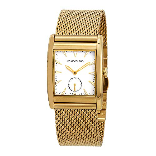 Movado Men's Heritage Swiss-Quartz Watch with Gold-Plated-Stainless-Steel Strap, 30 (Model: 3650053)