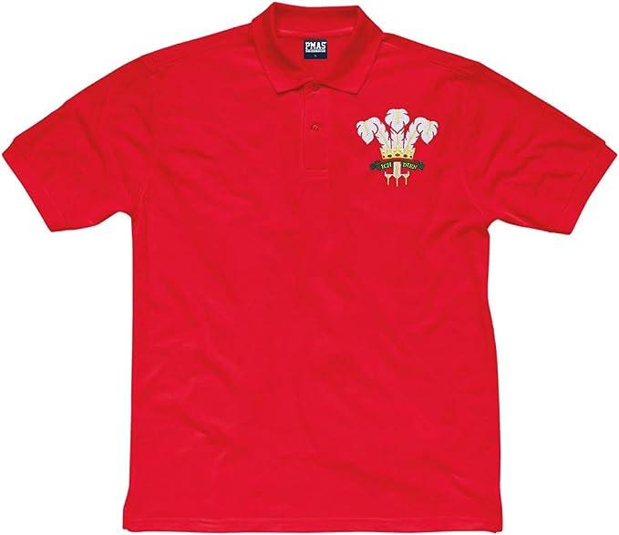 Printmeashirt Kids Vintage Bordado Escudo de Gales Gales Cymru ...