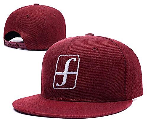 YUDUODUO Forum Snowboard Adjustable Snapback Embroidery Caps Hats - Red