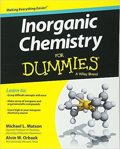 Amazon Inorganic Chemistry For Dummies 9781118217948 Michael