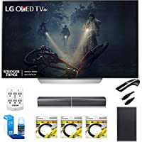LG 55 C7P OLED 4K HDR Smart TV (OLED55C7P) with Sound Bar Flex Audio System, 3x 6ft HDMI Cable, Universal Screen Cleaner for LED TVs, 6 Outlet Wall Tap w/ 2 USB Ports & 6ft Optical Audio Cable