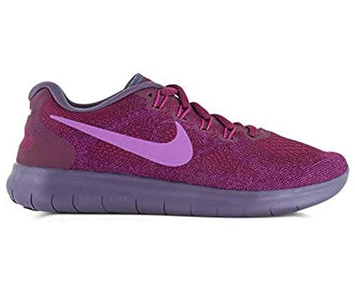 b1efebdc7 NIKE Women s Free RN 2017 Running Shoe Bordeaux Monarch Purple Bold Berry  Size 8 M US  Amazon.co.uk  Shoes   Bags