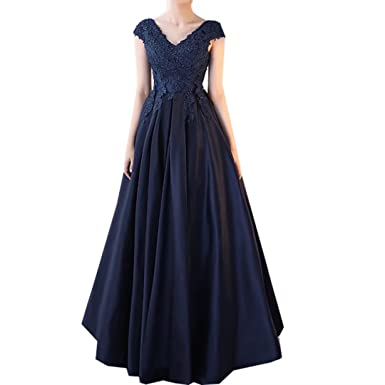 38523d550 Cutebridal Women s Girls Fashion V-Neck Sexy Gowns Backless Prom ...