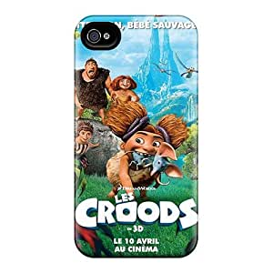 Shockproof Hard Cell-phone Case For Iphone 4/4s With Customized Fashion The Croods Skin ColtonMorrill