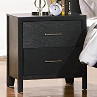 Coaster Home Furnishings 201652 Casual Contemporary Nightstand, Black