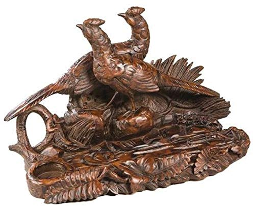 EuroLuxHome Pen Holder Desk Tray Traditional Rustic Pheasant Resin New Detailed Hand-