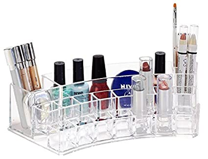 Image Unavailable. Image not available for. Color: Simplify Acrylic 20 Compartment Lipstick & Cosmetic Organizer