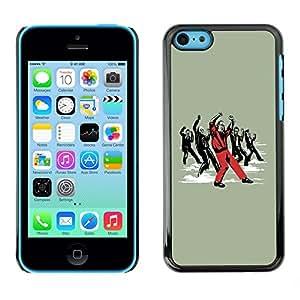 Cubierta de la caja de protección la piel dura para el Apple iPhone 5C - Cool Funny Dancing Zombie