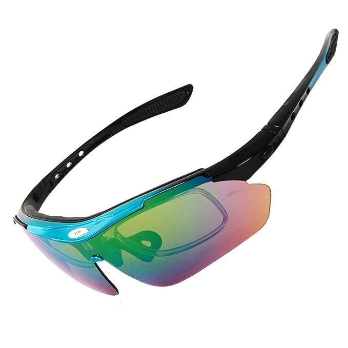 Outdoor Peak - Occhiali da ciclismo, colore: Multicolore Farbe 3