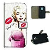 G4 NOTE case,SoloShow Marilyn Monroe sexy hot pink kiss pattern Luxury Wallet PU Leather Holder Pouch Case for LG G4 NOTE,G Stylo,G Stylus,LG Stylus LS770 5.8 inch (Pink)