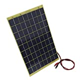 10Watt 18V Epoxy Solar Panel with Battery Clips Ideal For 12V Battery Charger For Car RV Boat Camping