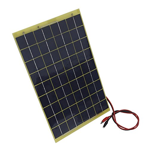 10Watt 18V Epoxy Solar Panel with Battery Clips Ideal For 12V Battery Charger For Car RV Boat Camping by ECO LLC (Image #6)