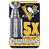 Pittsburgh Penguins 5X Stanley Cup Champions Sign