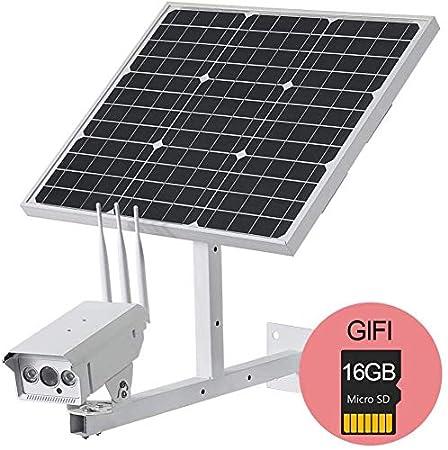 BD.Y Cámara IP inalámbrica de 1080P HD con Panel Solar de ...