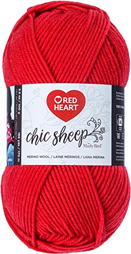 Red Heart R170.5254 Chic Sheep Yarn Marly Bird, (Sunset Wool Yarn)