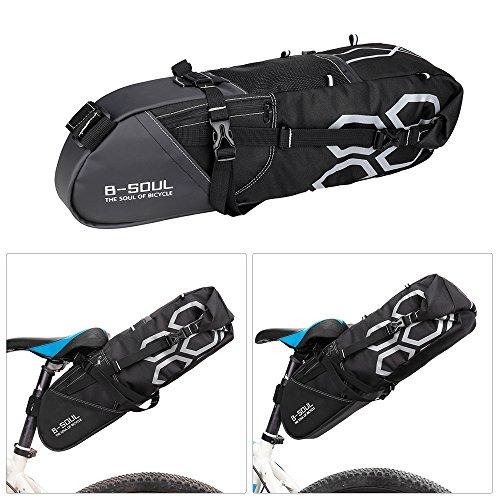 Lixada 10L Fahrrad Sattel Stasche/Fahrrad Werkzeug Aufbewahrungstasche, Größe: 55 * 14 * 14cm.