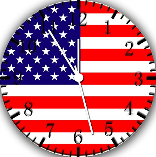 Borderless American Flag Frameless Wall Clock W26 Nice for Decor Or Gifts