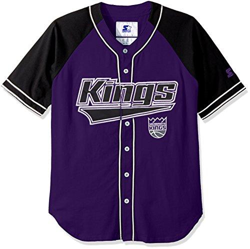 NBA Sacramento Kings Men's The Player Baseball Jersey, Large, Purple