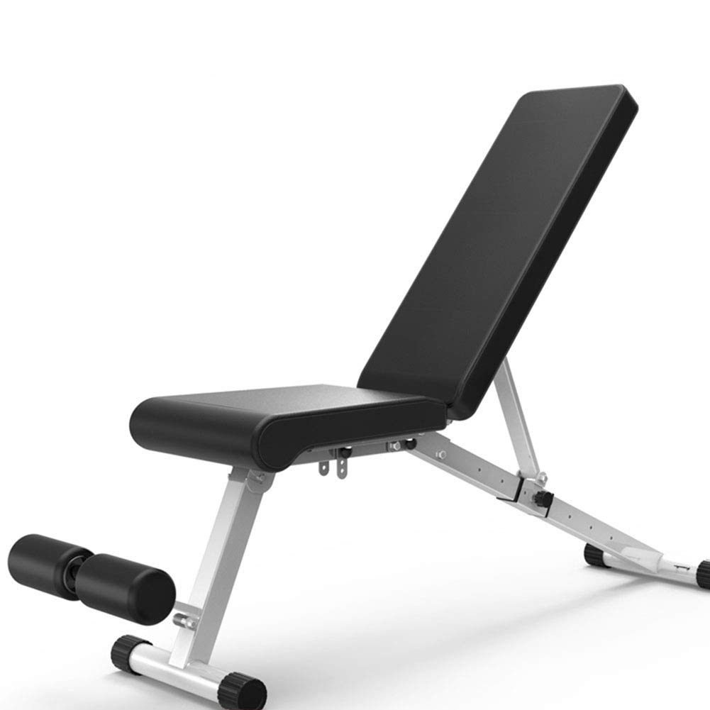 Multifunktions Hantelbänke Sit Up Utility Bench Fitness faltbar, Trainings-Hantelbank für Ganzkörpertraining Heavy Duty einstellbar, Flache Neigung Abnahme Multiuse Übung