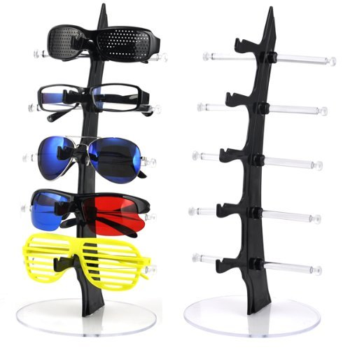 World Pride Sunglasses Rack Holder Glasses Display Stand (Black)