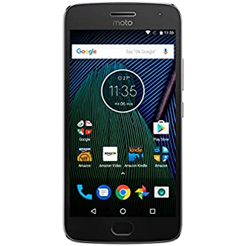 Moto G Plus (5th Generation) - Lunar Gray - 32 GB - Unlocked - Prime Exclusive - with Lockscreen Offers & Ads