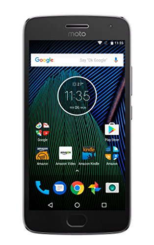 Moto G Plus (5th Generation) - Lunar Gray - 64 GB - Unlocked - Prime Exclusive - with Lockscreen Offers & Ads (G Phone Moto 2 Mobile)