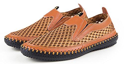 Mohem Mens Poseidon Mesh Walking Shoes Scarpe Casual Da Acqua Lt.brown