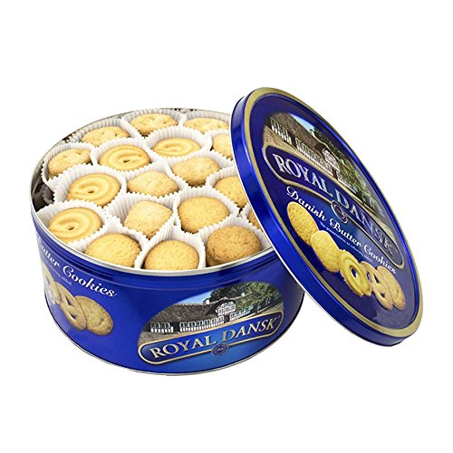 Royal Dansk Butter Cookies Tin - 2 Lb Tin Filled with Assorted Danish Cookies (32 Oz ()