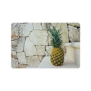 Especial diseño personalizado escaleras piña personalizada antideslizante se puede lavar a máquina. Cuarto de baño Interior/Al aire libre Felpudo 23.6por 15,7pulgadas