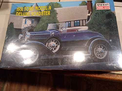1931 Ford Model A Deluxe Roadster 1/16th Scalr plastic mdel MInicraft