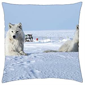 Arctic Wolves - Throw Pillow Cover Case (18