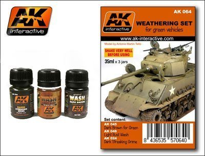 AK Interactive - Weathering Set for Green Vehicles # 00064 by AK Interactive