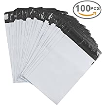 Metronic 100 7.5 x 10.5 Poly Mailer Envelopes Shipping Bags with Self Adhesive, Waterproof and Tear-proof Postal Bags(White)