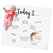 Kiddo Kind Baby Milestone Blanket - Celebrate Baby's First Year with a Photo - 48  x 48  - Makes Unique Background Props for Moms to Create Personalized Photography for Every Memory