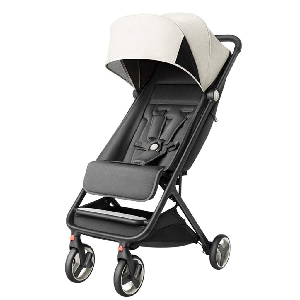 RJJX Home Baby Stroller Compact Stroller One-Step Design Open Foldable Lightweight Stroller 6 Months - 3 Years Old Baby, 3 Colors Optional (Color : White) by RJJX Home
