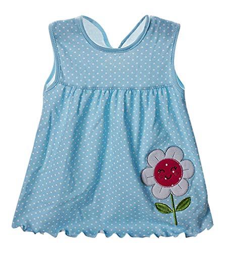 Sweety Girls Summer Pleated Panel Trim & Ribbon Short Sleeveless Dot Cute Dress