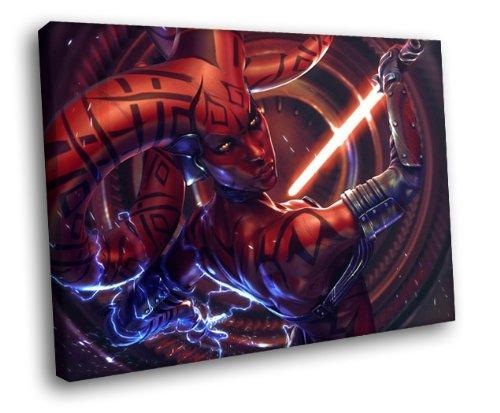 H5D9844 Star Wars Darth Talon Twi'lek Art 20x16 FRAMED CANVAS PRINT