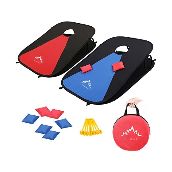 Himal Collapsible Portable Corn Hole Boards With 8 Cornhole Bean Bags (3 x 2-feet) 1