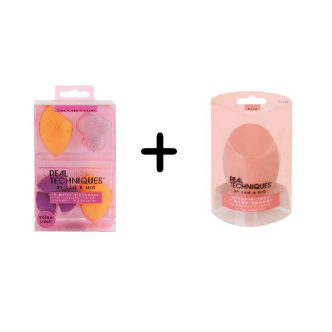 Real Techniques 6 Miracle Complexion Sponges + Miracle Complexion Body Sponge Value Set